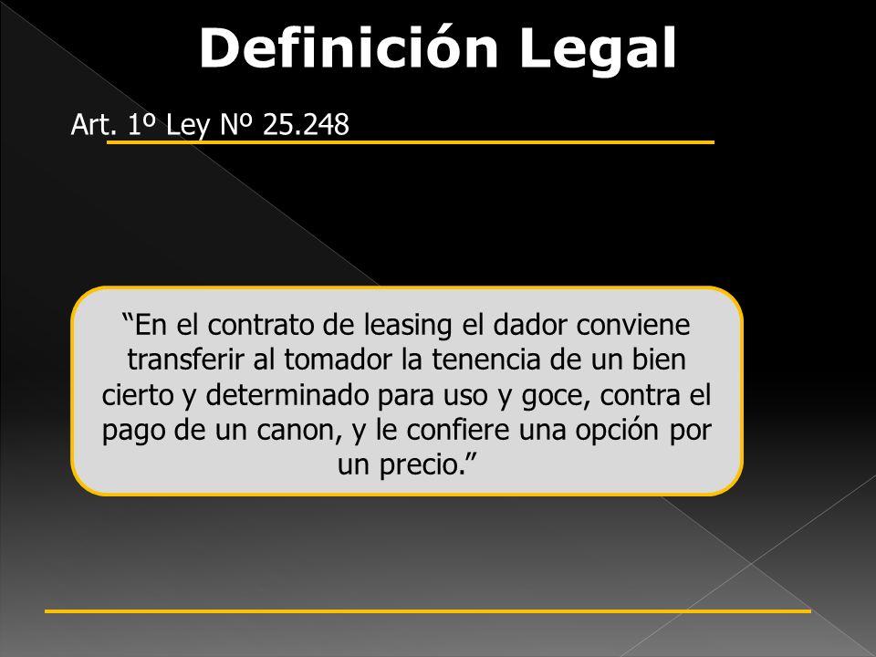 Definición Legal Art. 1º Ley Nº 25.248