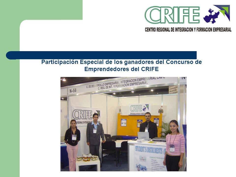 Participación Especial de los ganadores del Concurso de Emprendedores del CRIFE