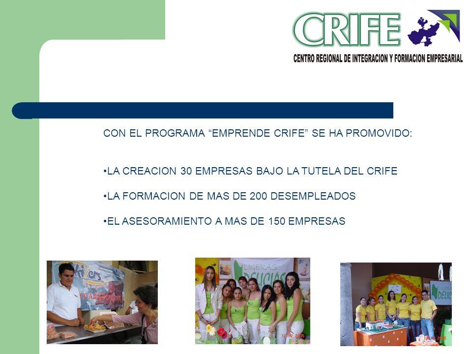 CON EL PROGRAMA EMPRENDE CRIFE SE HA PROMOVIDO: