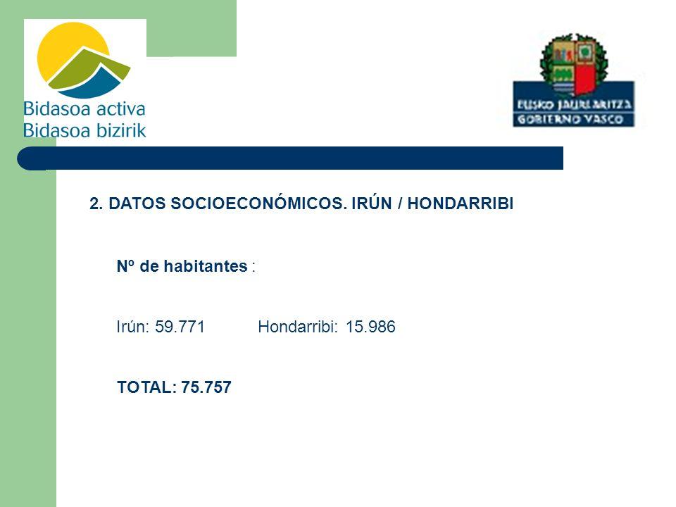2. DATOS SOCIOECONÓMICOS. IRÚN / HONDARRIBI