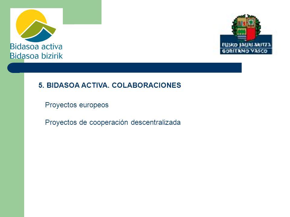 5. BIDASOA ACTIVA. COLABORACIONES