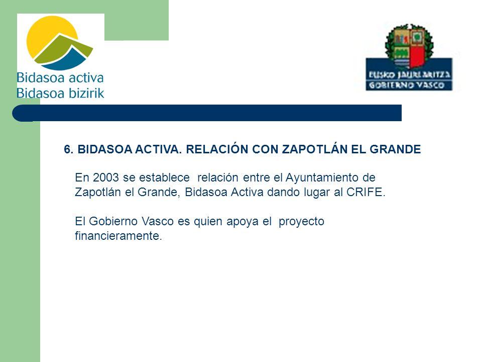 6. BIDASOA ACTIVA. RELACIÓN CON ZAPOTLÁN EL GRANDE