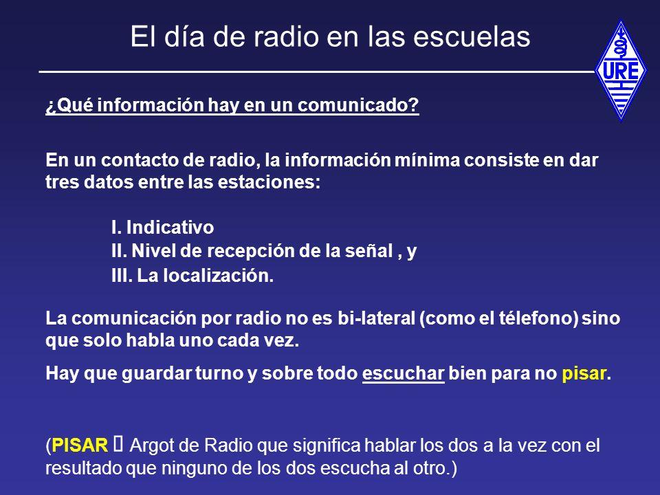 El día de radio en las escuelas