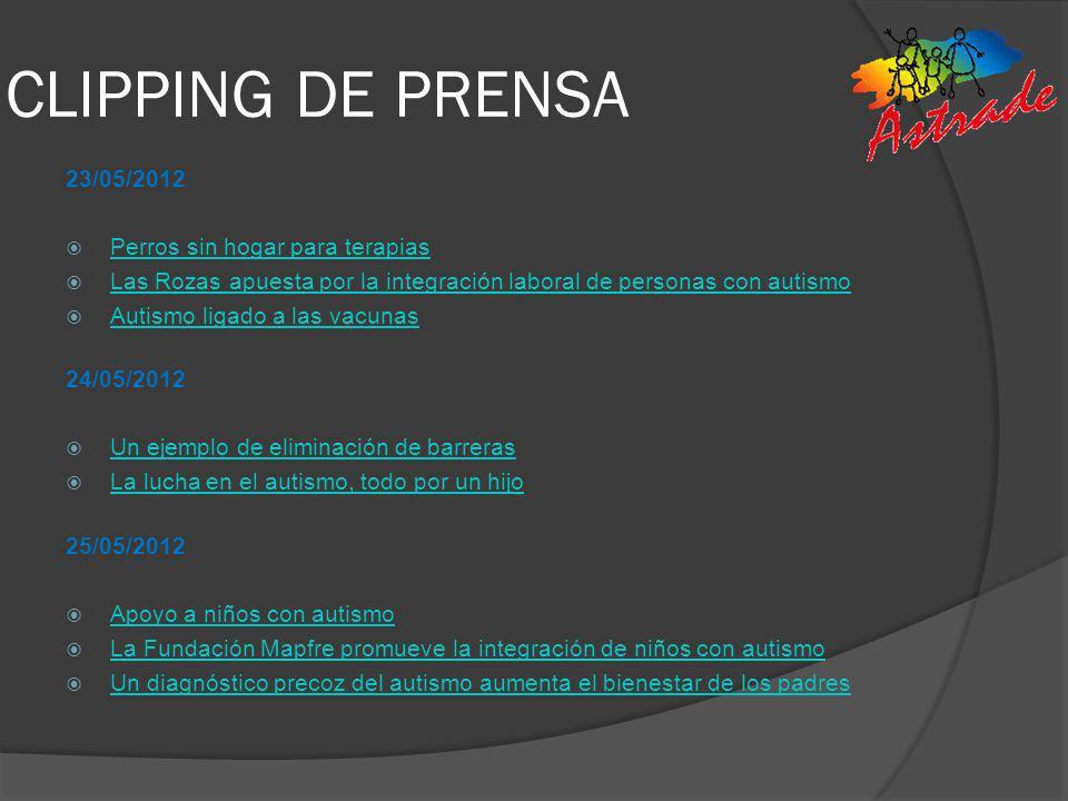 CLIPPING DE PRENSA 23/05/2012 Perros sin hogar para terapias