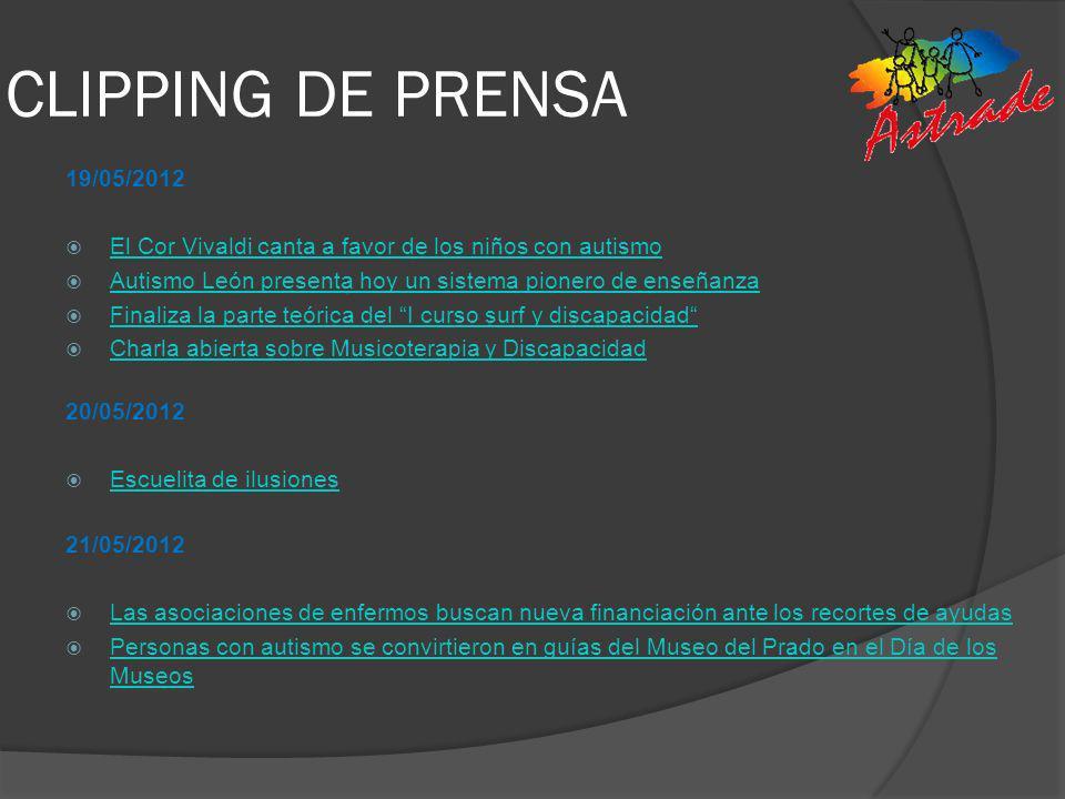 CLIPPING DE PRENSA 19/05/2012. El Cor Vivaldi canta a favor de los niños con autismo. Autismo León presenta hoy un sistema pionero de enseñanza.