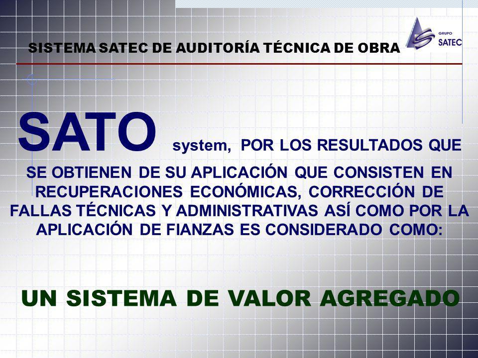 SISTEMA SATEC DE AUDITORÍA TÉCNICA DE OBRA
