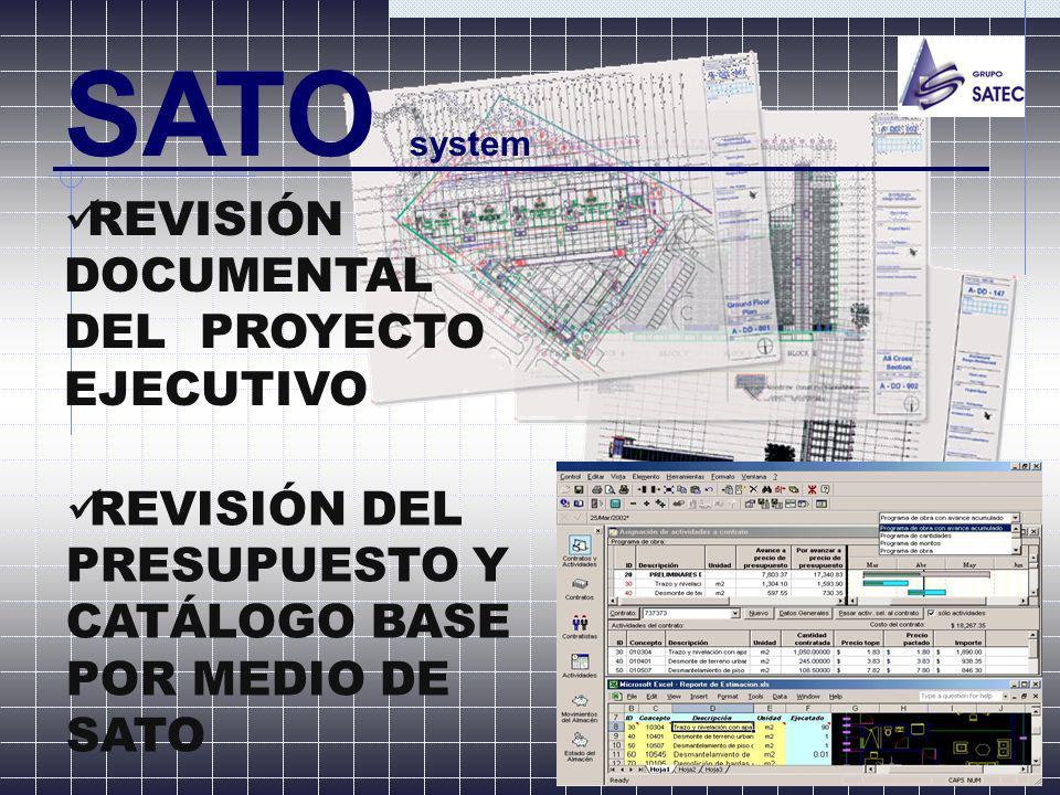 SATO system REVISIÓN DOCUMENTAL DEL PROYECTO EJECUTIVO