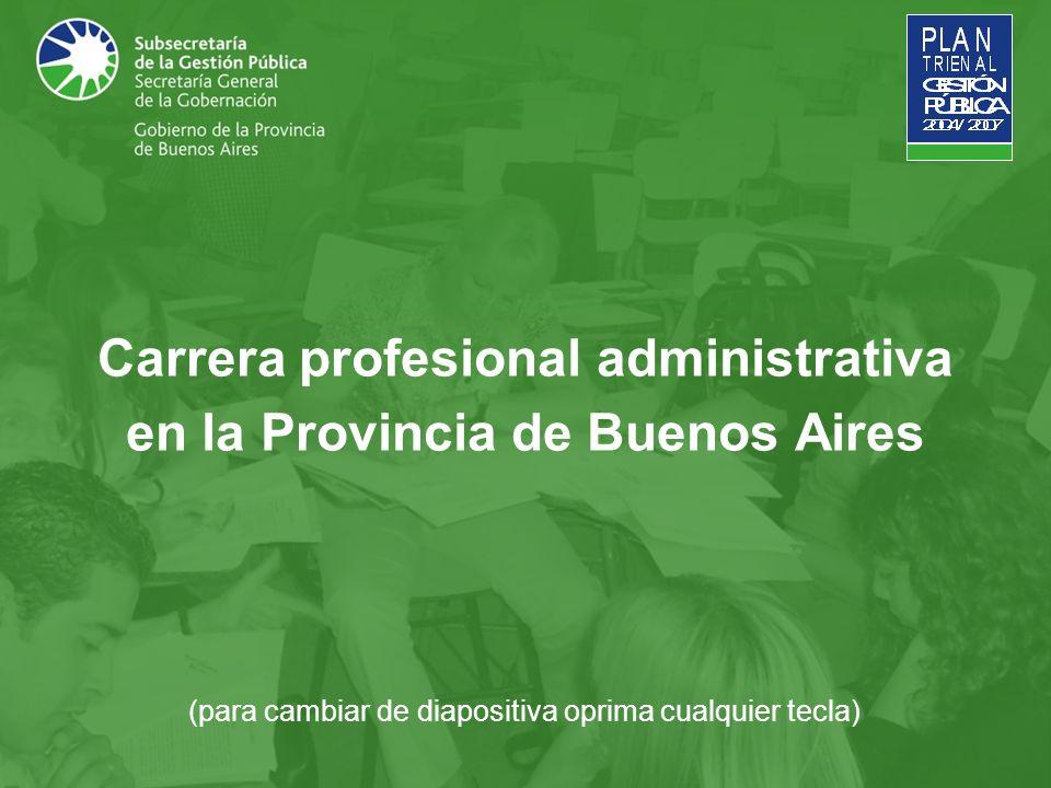 Carrera profesional administrativa en la Provincia de Buenos Aires