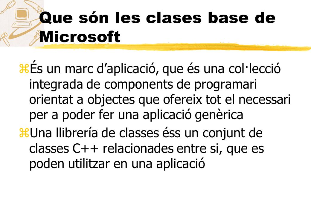 Que són les clases base de Microsoft