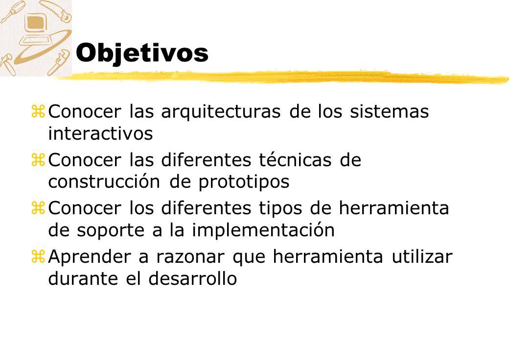 Objetivos Conocer las arquitecturas de los sistemas interactivos