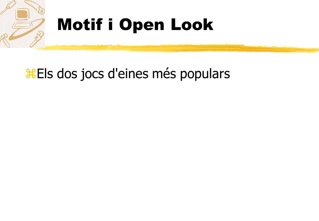 Motif i Open Look Els dos jocs d eines més populars