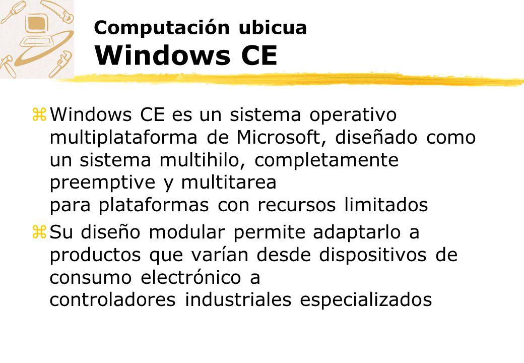 Computación ubicua Windows CE