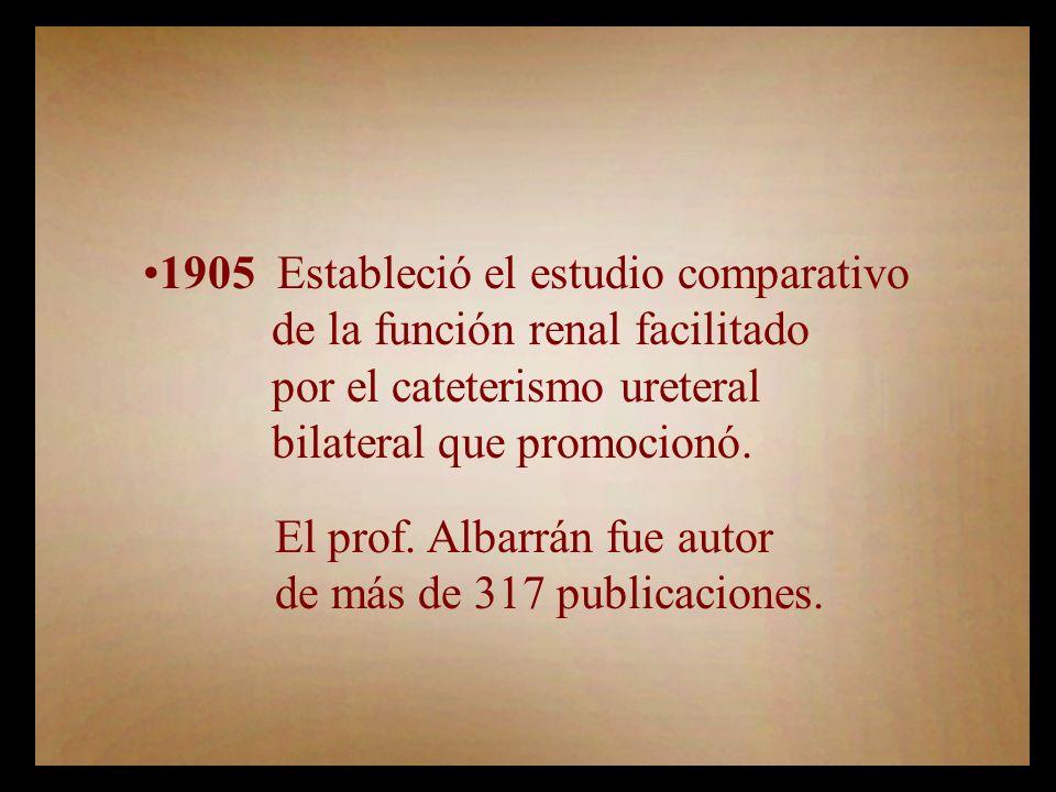1905 Estableció el estudio comparativo