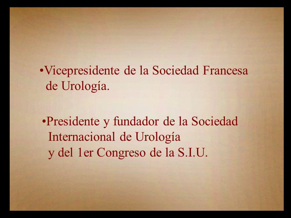 Vicepresidente de la Sociedad Francesa