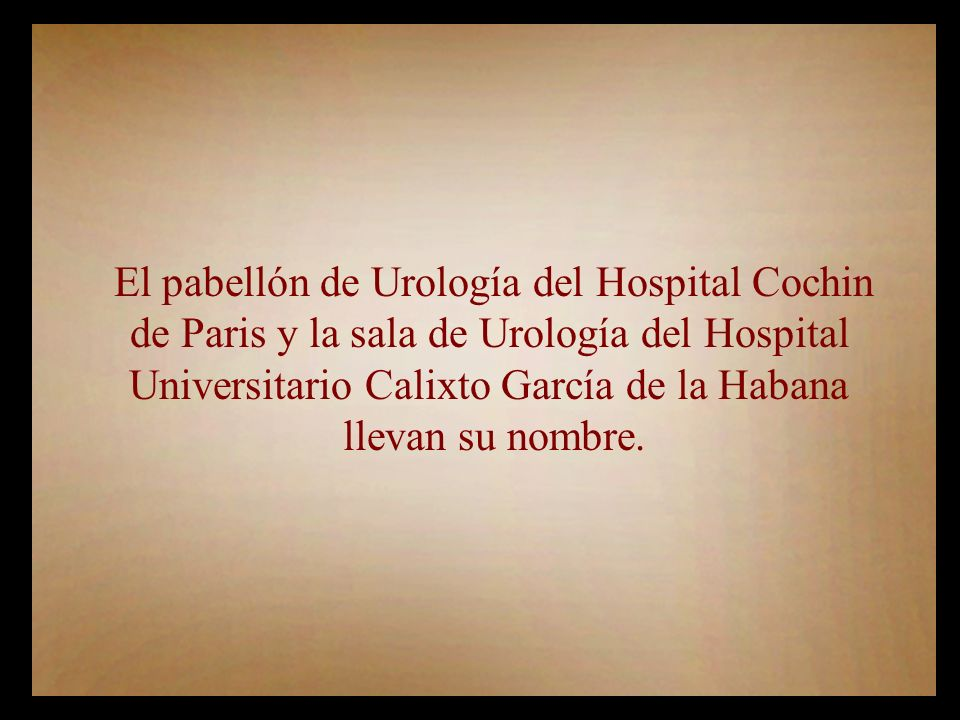 El pabellón de Urología del Hospital Cochin