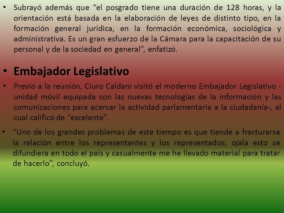 Embajador Legislativo