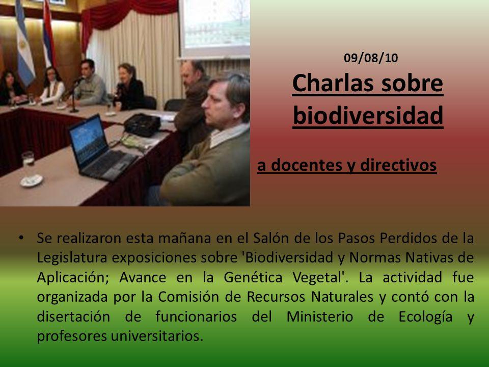 09/08/10 Charlas sobre biodiversidad