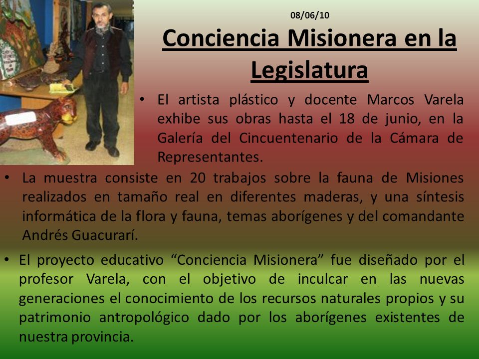 08/06/10 Conciencia Misionera en la Legislatura