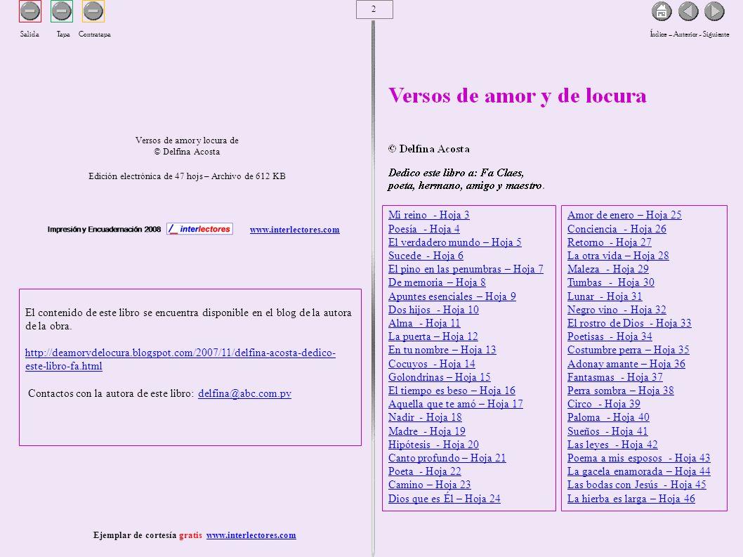 Ejemplar de cortesía gratis www.interlectores.com