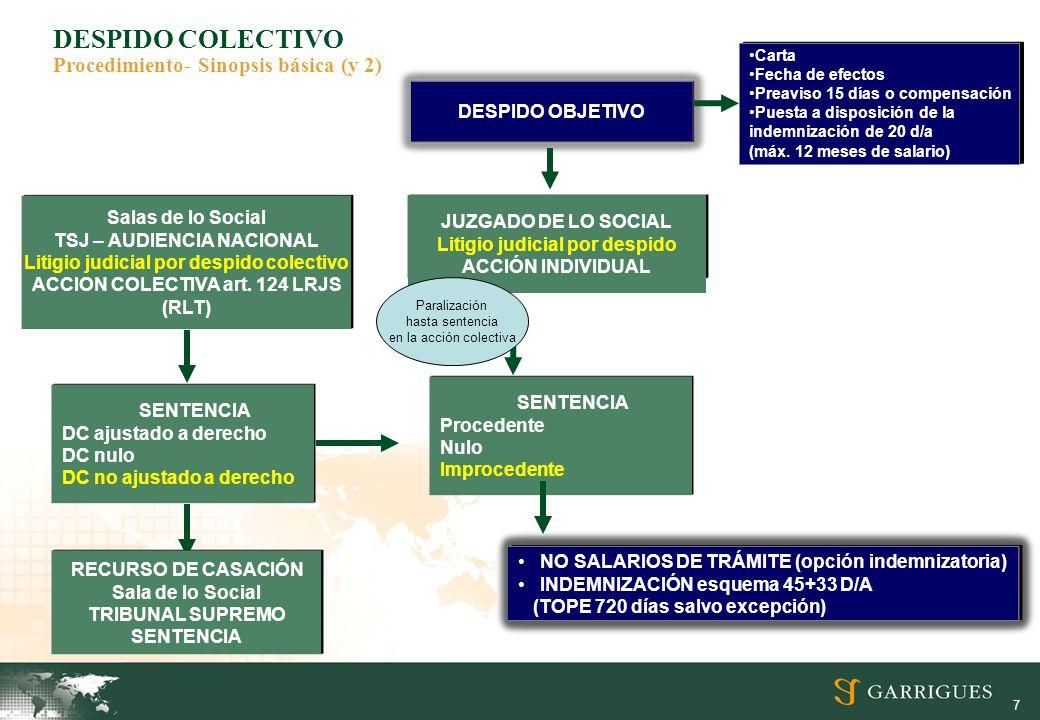 DESPIDO COLECTIVO Procedimiento- Sinopsis básica (y 2)