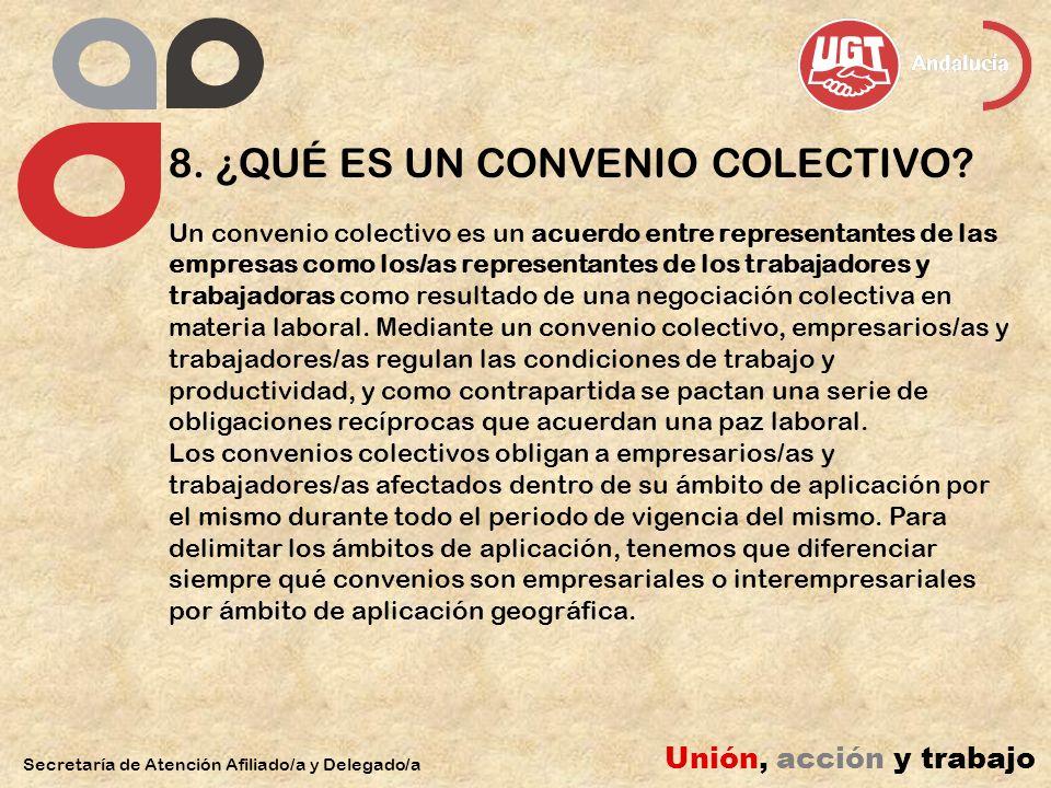 8. ¿QUÉ ES UN CONVENIO COLECTIVO