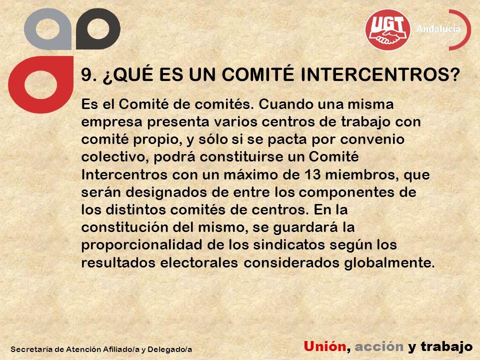 9. ¿QUÉ ES UN COMITÉ INTERCENTROS