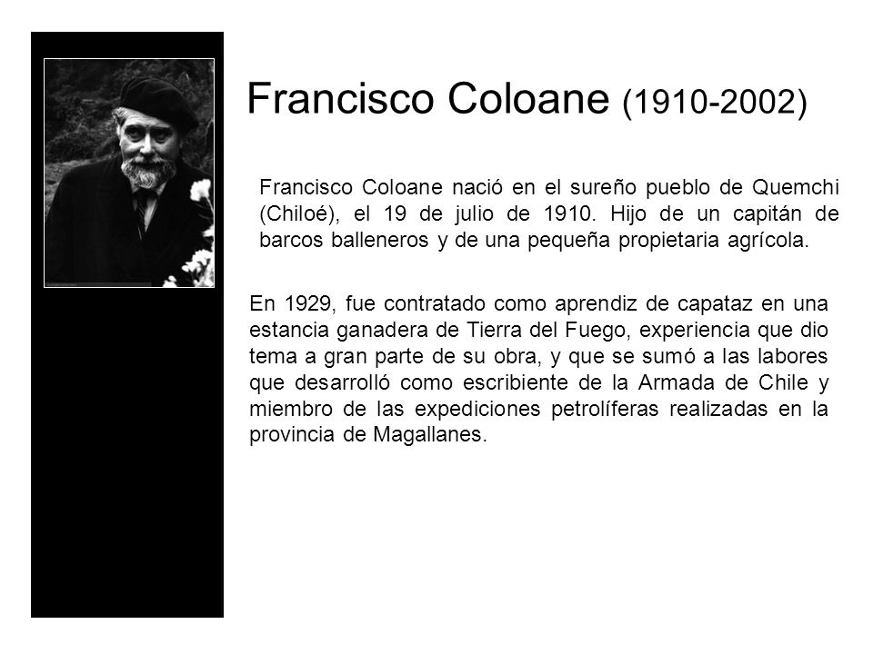 Francisco Coloane (1910-2002)
