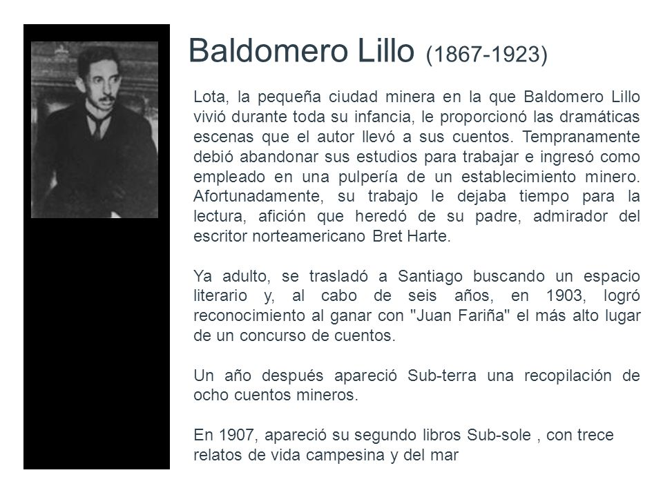 Baldomero Lillo (1867-1923)