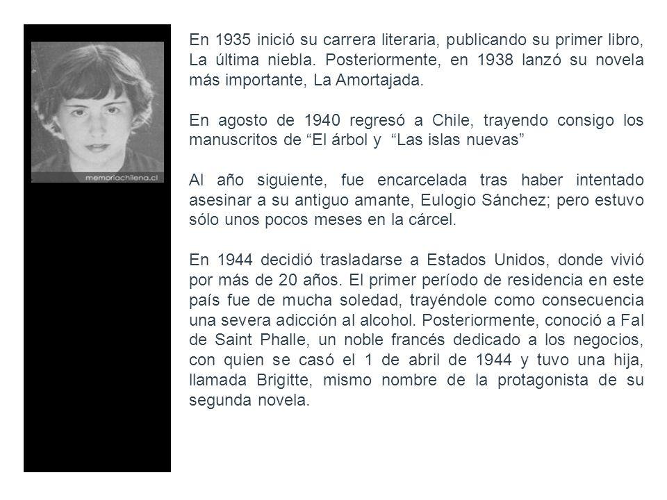 En 1935 inició su carrera literaria, publicando su primer libro, La última niebla. Posteriormente, en 1938 lanzó su novela más importante, La Amortajada.