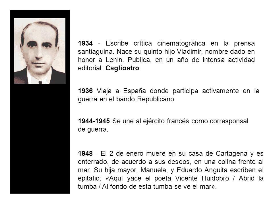 1934 - Escribe crítica cinematográfica en la prensa santiaguina
