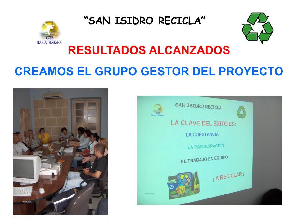 RESULTADOS ALCANZADOS CREAMOS EL GRUPO GESTOR DEL PROYECTO