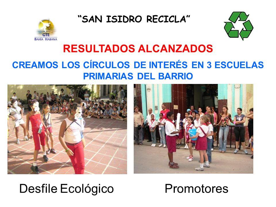Desfile Ecológico Promotores RESULTADOS ALCANZADOS