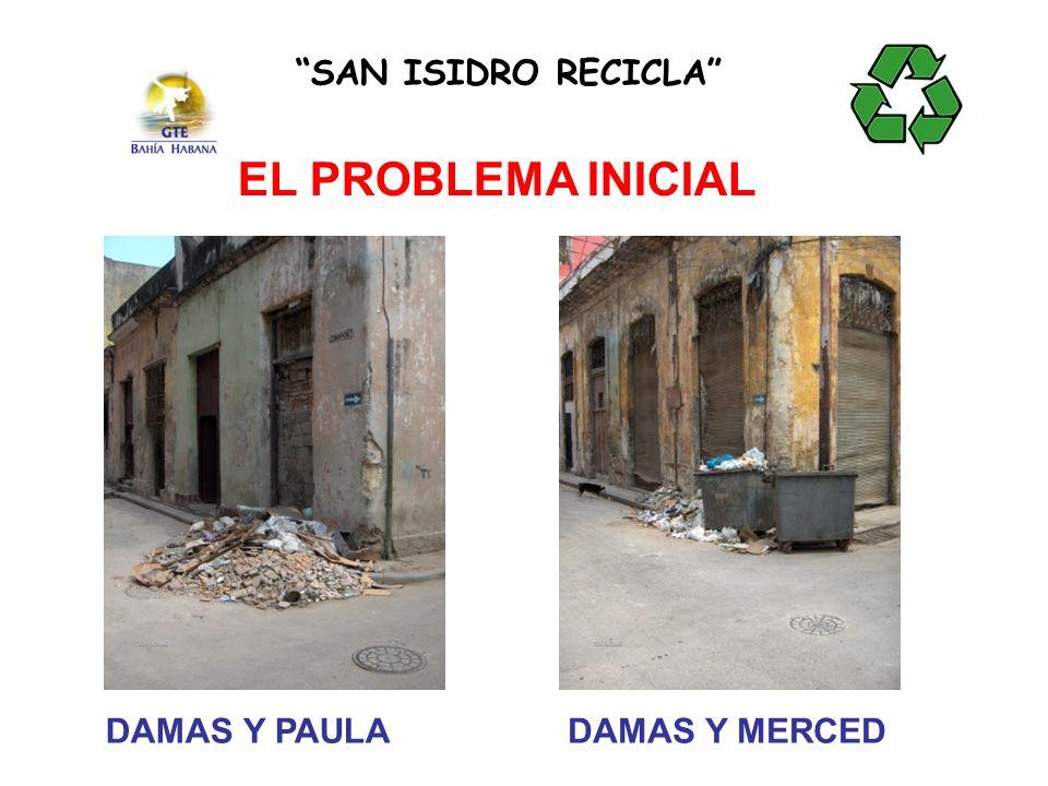 SAN ISIDRO RECICLA EL PROBLEMA INICIAL DAMAS Y PAULA DAMAS Y MERCED