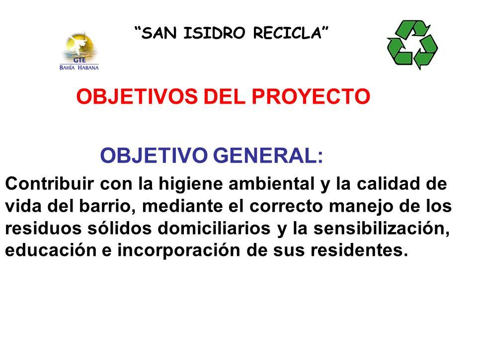 OBJETIVOS DEL PROYECTO OBJETIVO GENERAL: