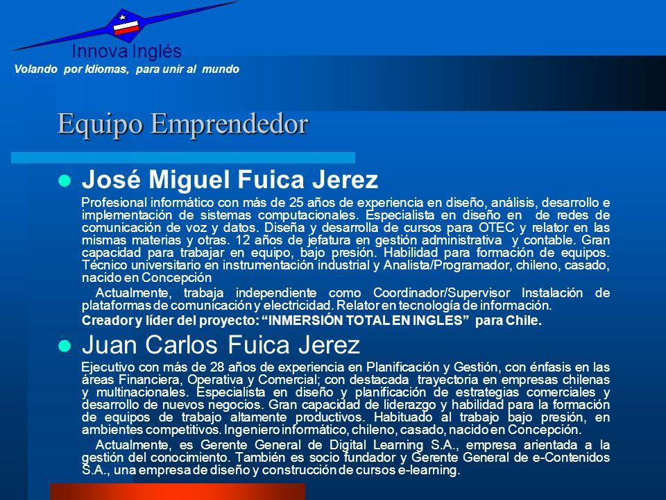 Equipo Emprendedor José Miguel Fuica Jerez Juan Carlos Fuica Jerez