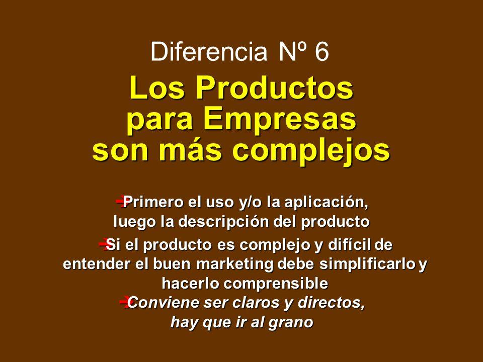 Los Productos para Empresas son más complejos