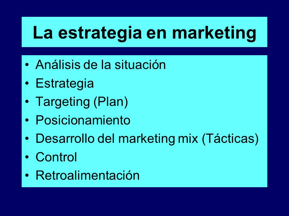 La estrategia en marketing