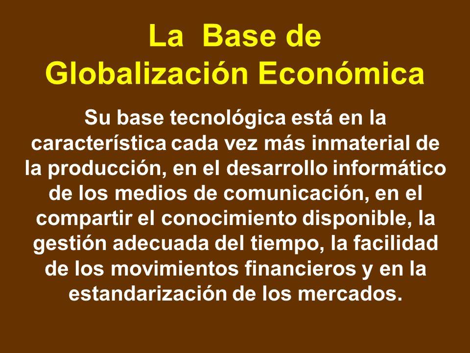 La Base de Globalización Económica