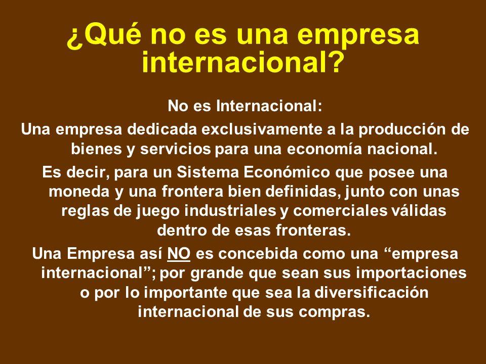 ¿Qué no es una empresa internacional