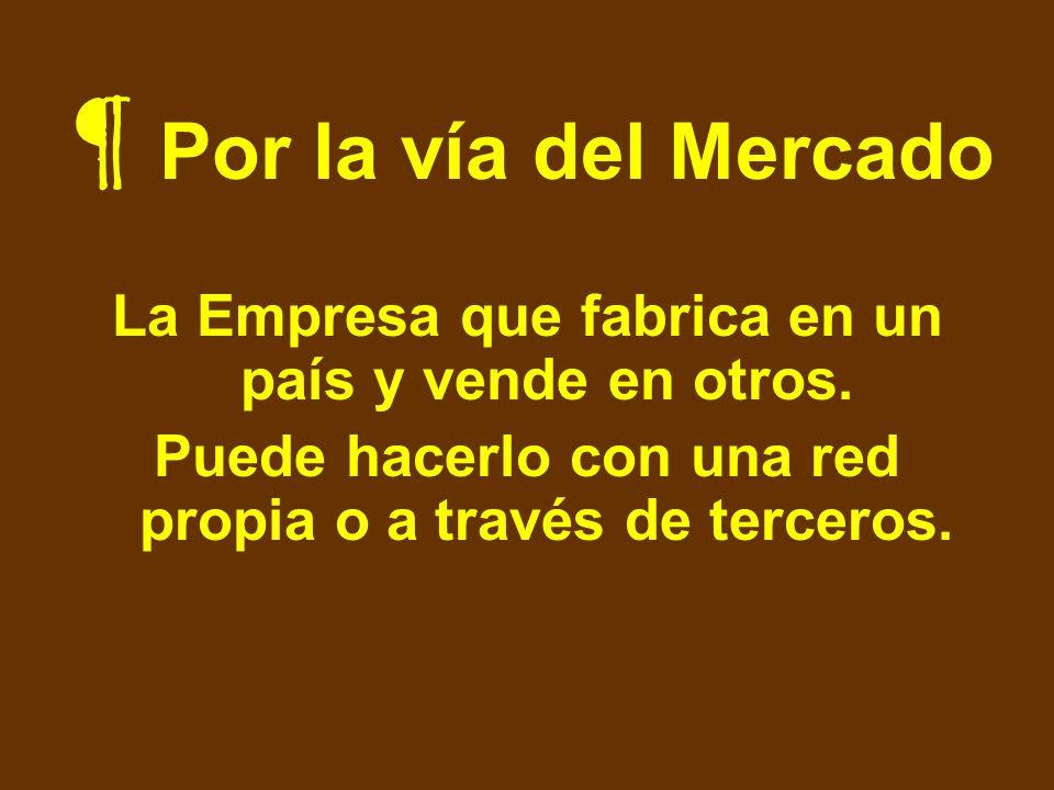 Por la vía del Mercado La Empresa que fabrica en un país y vende en otros.