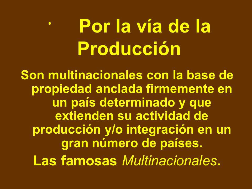 Por la vía de la Producción