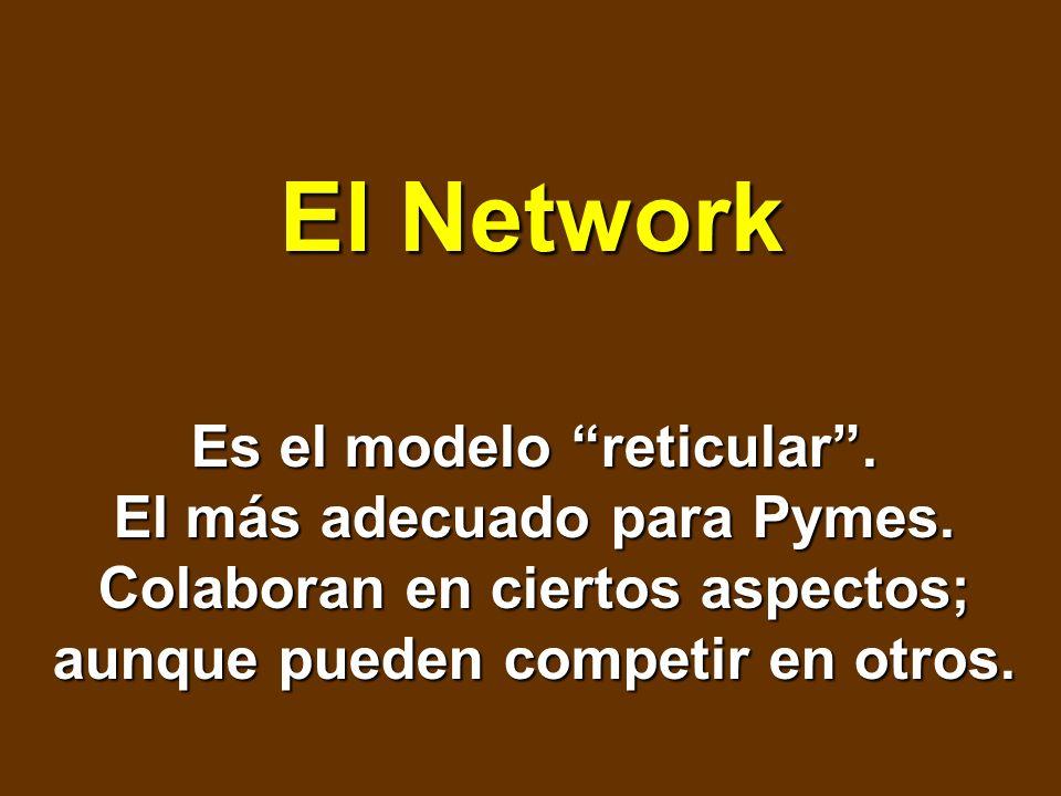 El Network Es el modelo reticular . El más adecuado para Pymes.