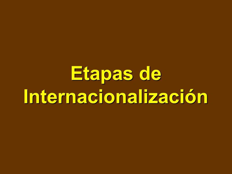Etapas de Internacionalización