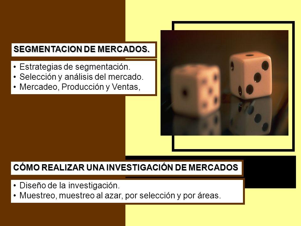 SEGMENTACION DE MERCADOS.