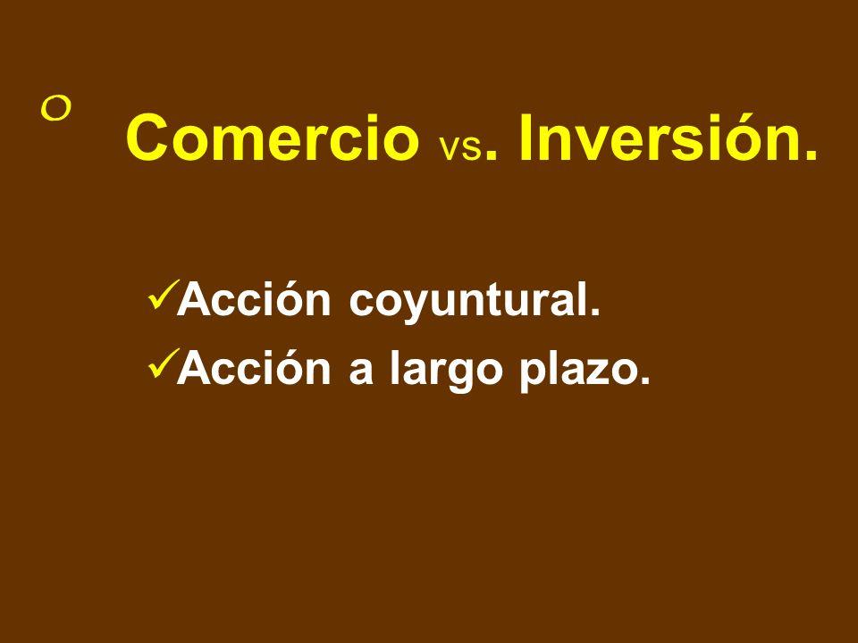 Comercio vs. Inversión. Acción coyuntural. Acción a largo plazo.