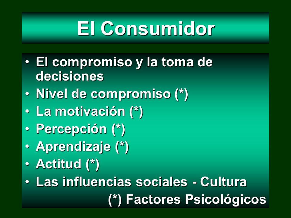 El Consumidor El compromiso y la toma de decisiones