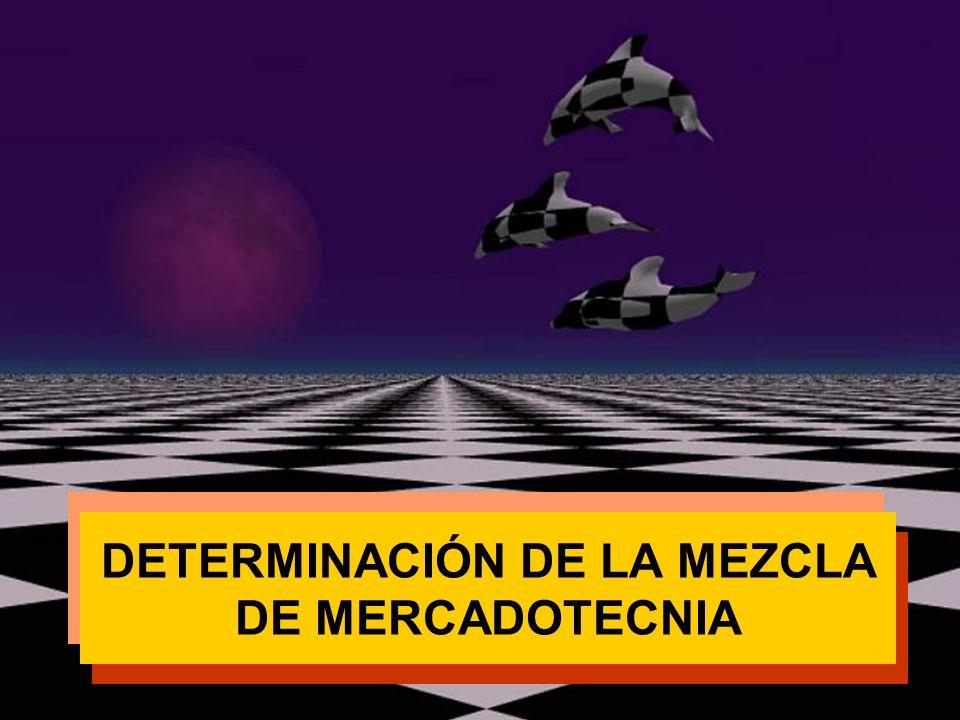 DETERMINACIÓN DE LA MEZCLA DE MERCADOTECNIA