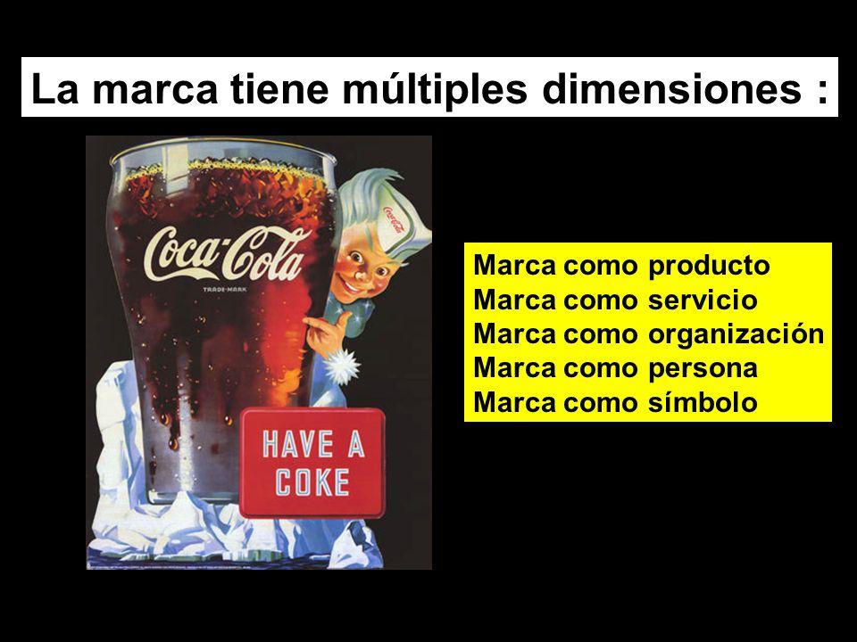 La marca tiene múltiples dimensiones :