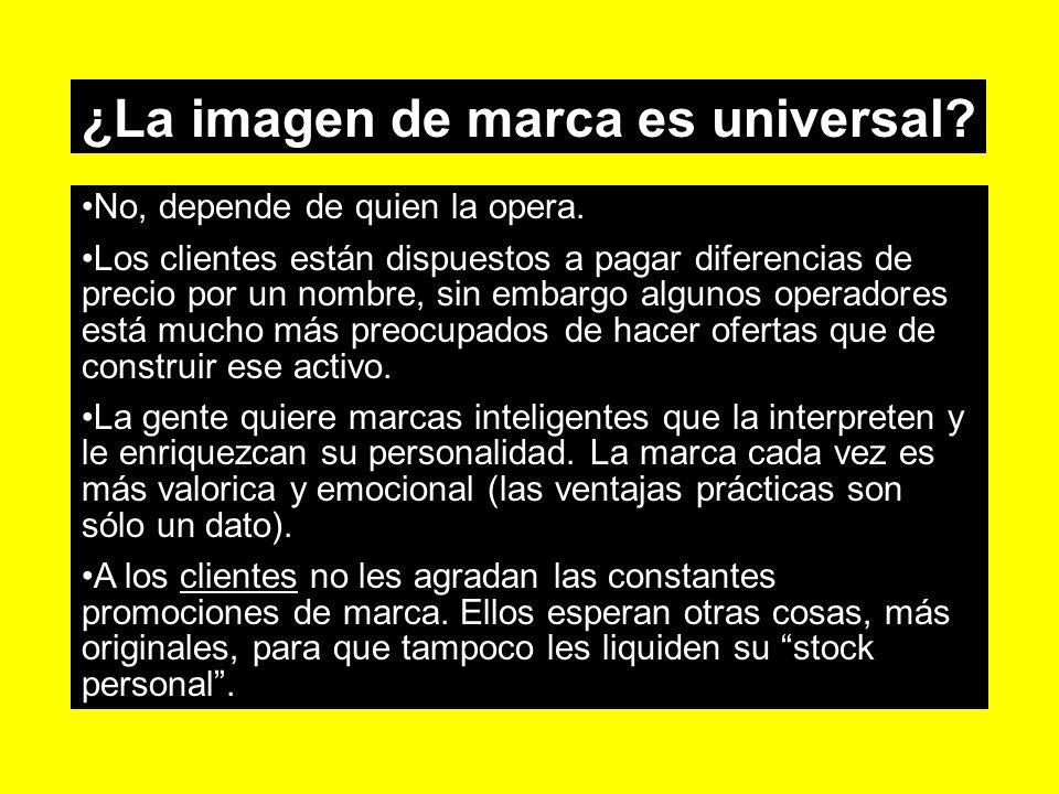 ¿La imagen de marca es universal