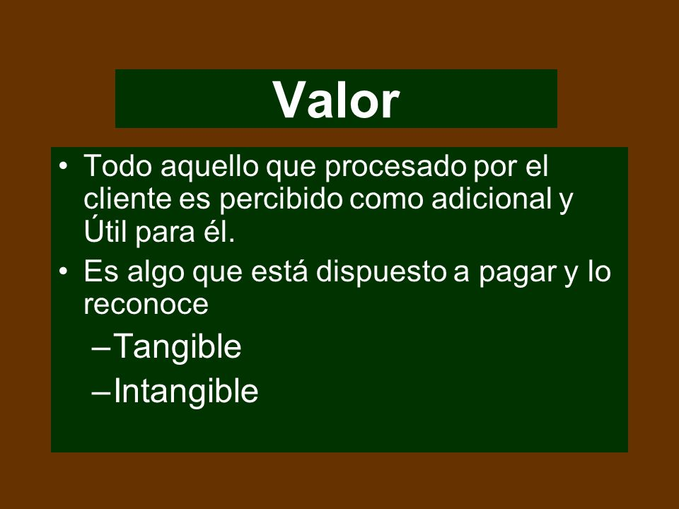 Valor Tangible Intangible